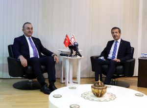 Dışişleri Bakanı Ertuğruloğlu, Türkiye Cumhuriyeti Dışişleri Bakanı Çavuşoğlu ile görüştü