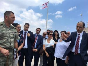 Özersay visited closed city Varosha (Maraş) (27/07/2018)