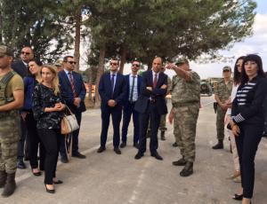 Özersay visited closed city Varosha (Maraş) (27/07/2018)