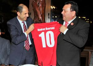 Özersay gives a dinner in honour of CTFF and TCFF. (14 November 2018)