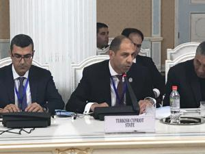Deputy Prime Minister and Minister of Foreign Affairs Özersay attended Economic Cooperation Organization (ECO) in Tajikistan (18/04/2018)
