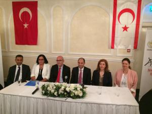 "Özersay talked about ""Project for Turkish Cypriots living abroad"" in London (20/07/2018)"