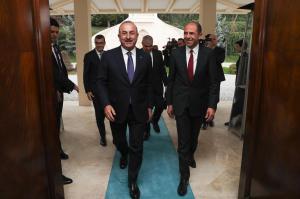 Başbakan Yardımcısı ve Dışişleri Bakanı Kudret Özersay Türkiye Dışişleri Bakanı Mevlüt Çavuşoğlu ile bir araya geldi (03/09/2018)