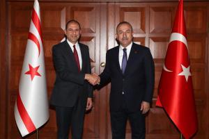 Deputy Prime Minister and Minister of Foreign Affairs Özersay met with Turkish Foreign Minister Mevlüt Çavuşoğlu (03/09/2018)