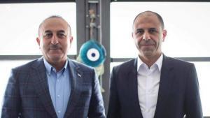 Başbakan Yardımcısı ve Dışişleri Bakanı Özersay, Türkiye Cumhuriyeti Dışişleri Bakanı Çavuşoğlu ile Antalya'da bir araya geldi. (11 Mart 2019)