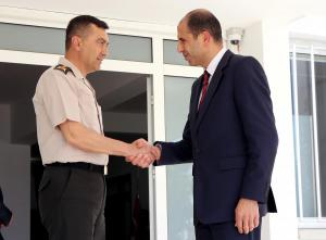 Deputy Prime Minister and Minister of Foreign Affairs Kudret Özersay met with the Commander of the Cyprus Turkish Peace Forces Lieutenant General Yılmaz Yıldırım (13/04/2018)