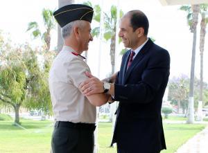 Başbakan Yardımcısı ve Dışişleri Bakanı Kudret Özersay, Güvenlik Kuvvetleri Komutanı Tuğgeneral Tevfik Algan ile görüştü. (02/05/2018)