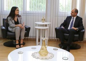 Deputy Prime Minister and Minister of Foreign Affairs Kudret Özersay received delegation of Turkish Youth Association UK (24 December 2018)