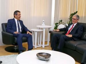 Dışişleri Bakanı Tahsin Ertuğruloğlu, TC Lefkoşa Büyükelçisi Derya Kanbay'ı makamında kabul etti