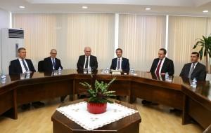 Dışişleri Bakanı Tahsin Ertuğruloğlu, TC Dışişleri Bakanlığı Müsteşarı Feridun Sinirlioğlu'nu kabul etti.